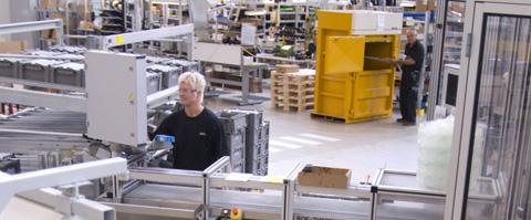 Bramidan in verpakkingslijn