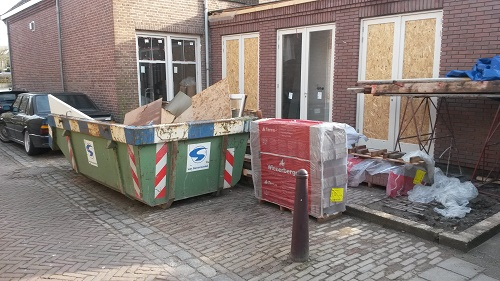 6 m3 bouwcontainer in Amstelveen