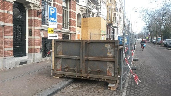 Puincontainer in Amsterdam